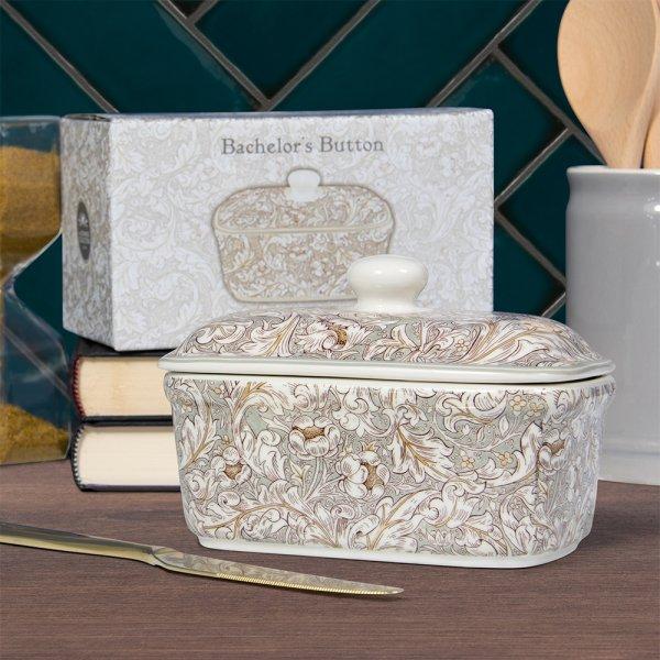 BACHELORS BUTTON BUTTER DISH