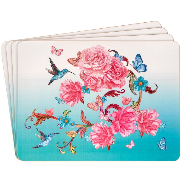 ORIENTAL BLOSSOM PLACEMATS 4 S