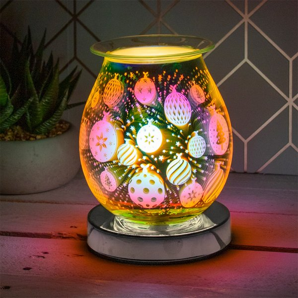 3D SILVER BAUBLE AROMA LAMP