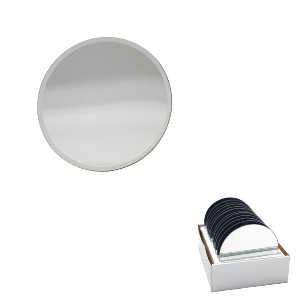 MIRROR CANDLEPLATE 10CM