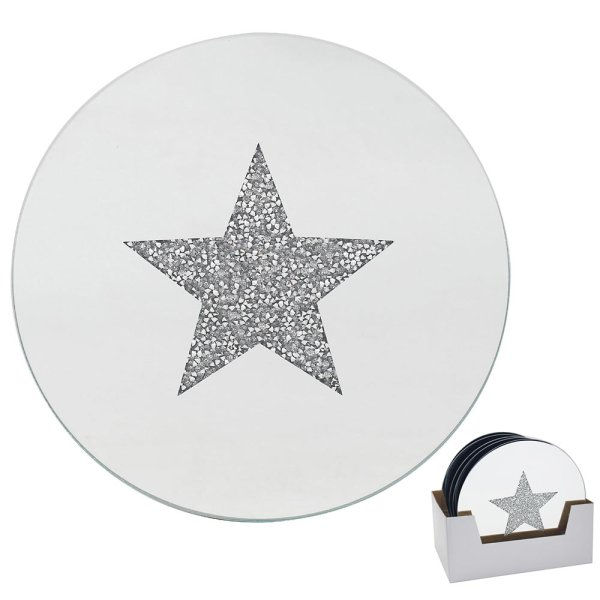STAR CANDLE PLATE 15.5CM
