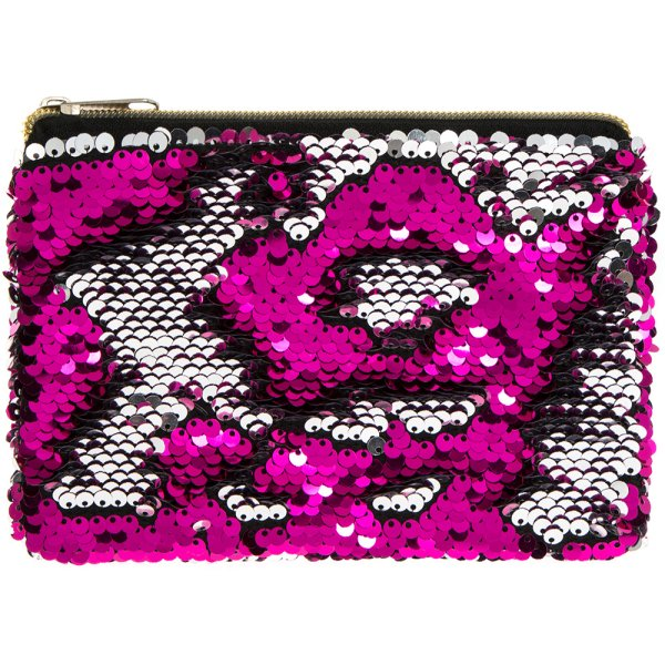 SEQUIN PURSE PINK & SILVER