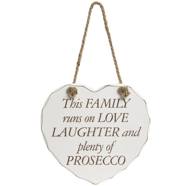 LOVE LAUGHTER AND PROSECCO PLQ