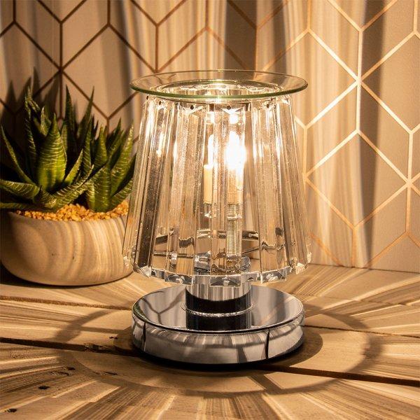 AROMA LAMP SILVR CLEAR CRYSTAL