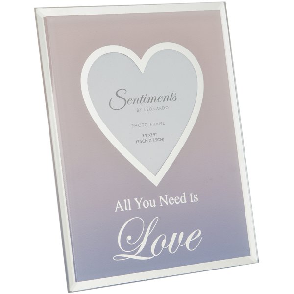 "SENTIMENTS FRAME LOVE 3""X3"""