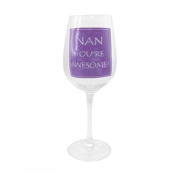 AWESOME NAN WINE GLASS