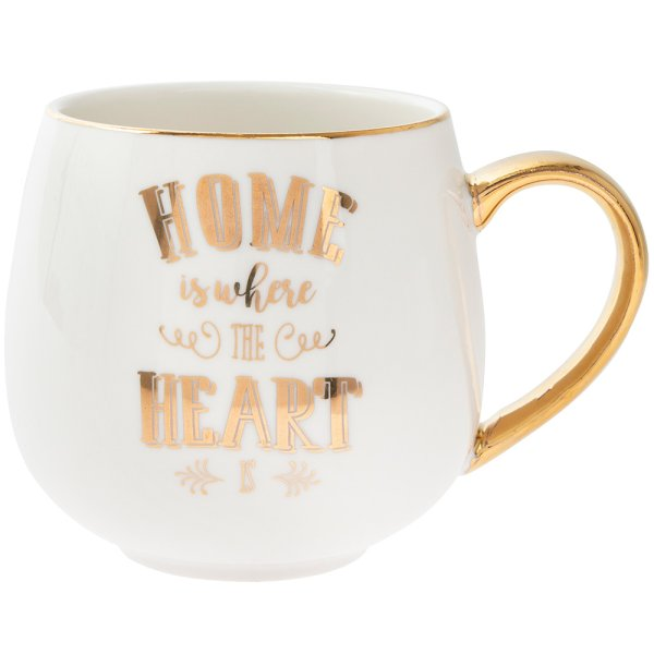 HOME IS WHERE HEART IS HUG MUG