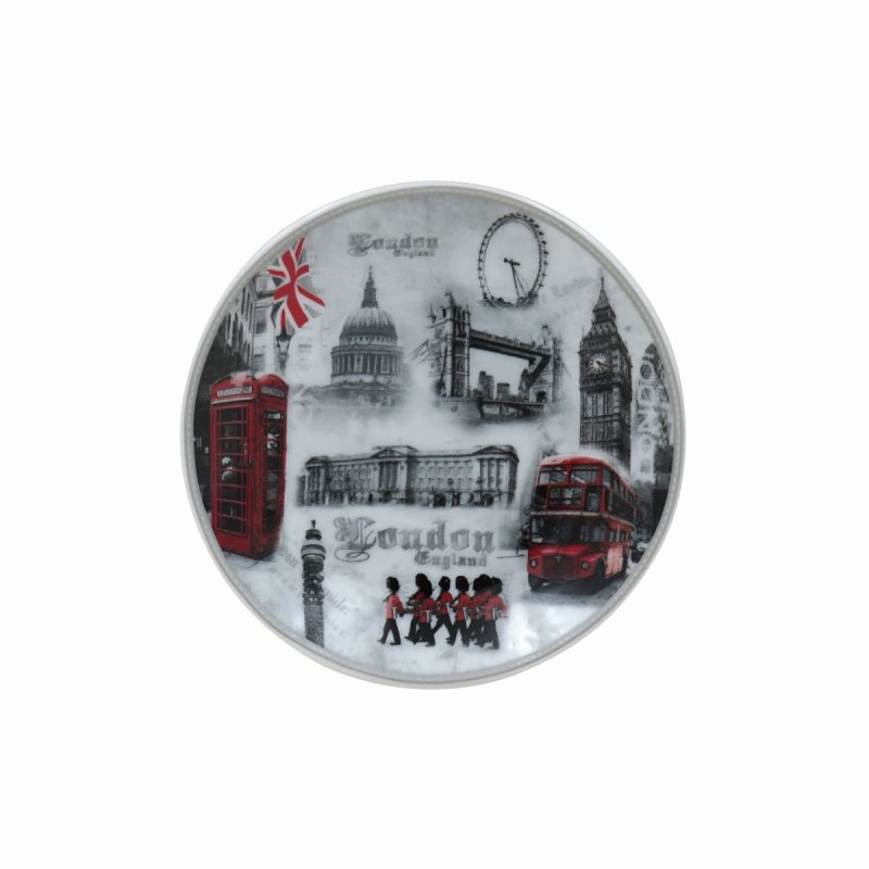 LONDON PLATE W/STAND 4.5""