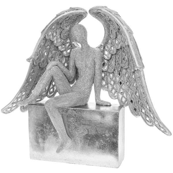 """SILVER ART ANGEL 16"""""""