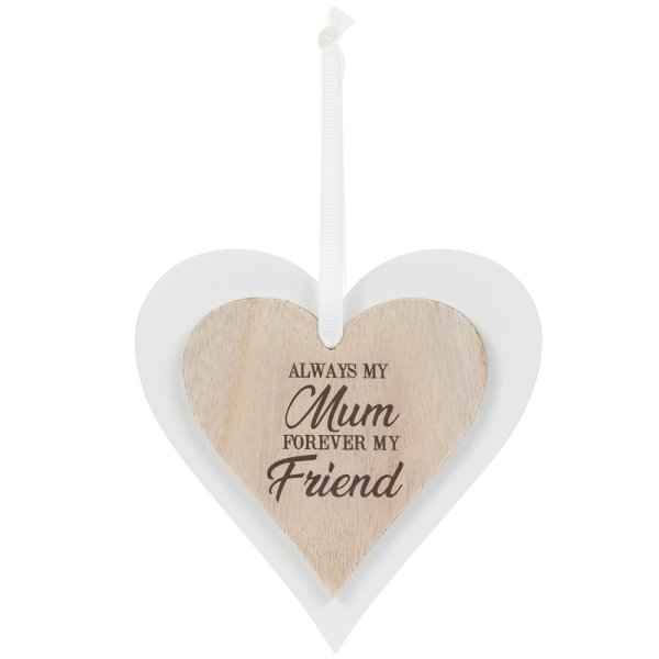 DBL HEART PLAQUE MUM