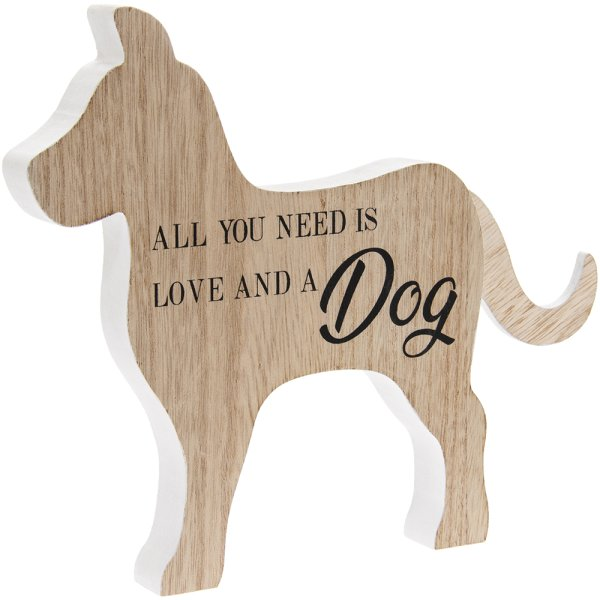 ALL YOU NEED IS LOVE & DOG PLQ