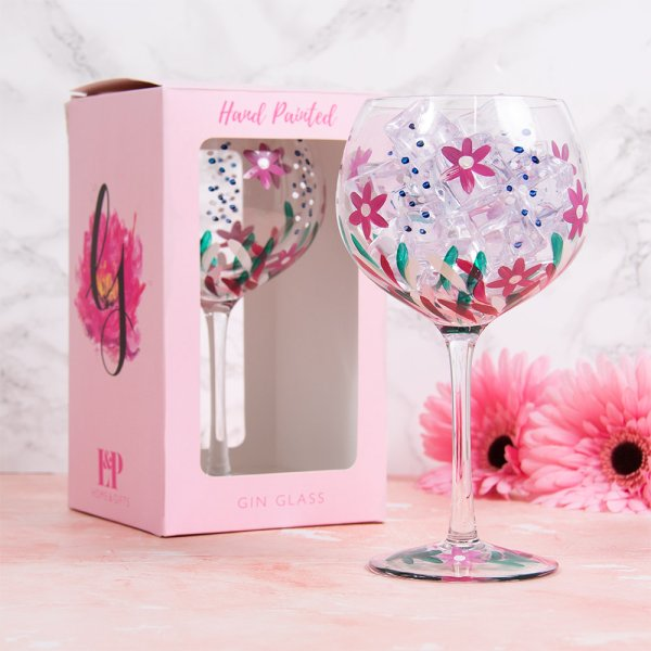 WILD FLOWERS GIN GLASS