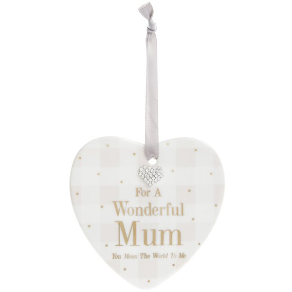 MAD DOTS MUM HEART PLAQUE