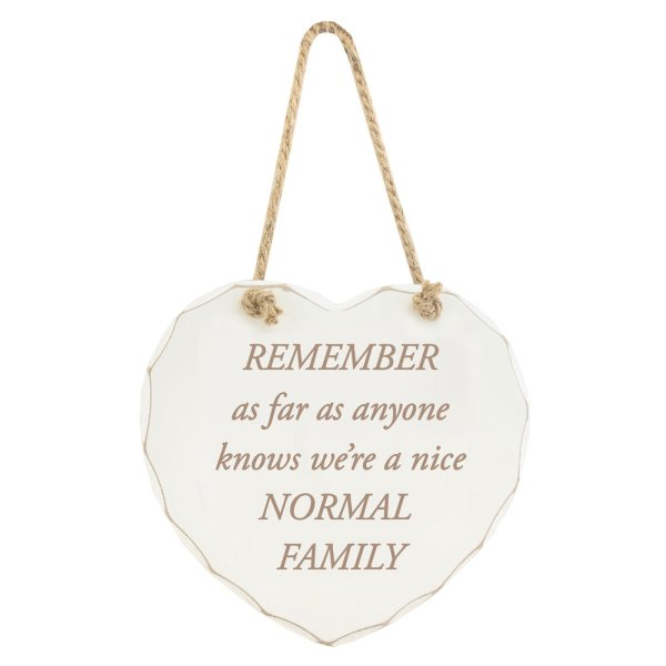 NICE NORMAL FAMILY PLAQUE