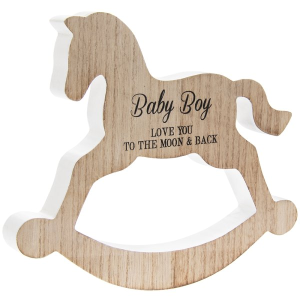 ROCKING HORSE BABY BOY PLQ