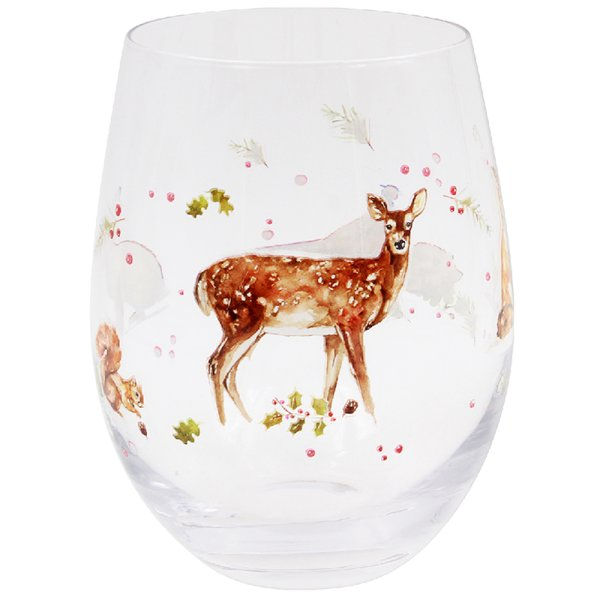 WINTER FOREST STEMLESS WINEGLS