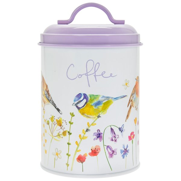 GARDEN BIRDS COFFEE CANISTER