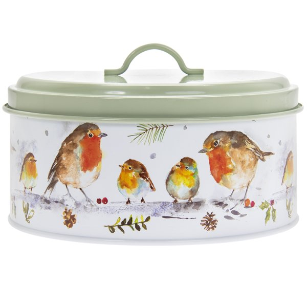 WINTER ROBINS CANISTER LARGE