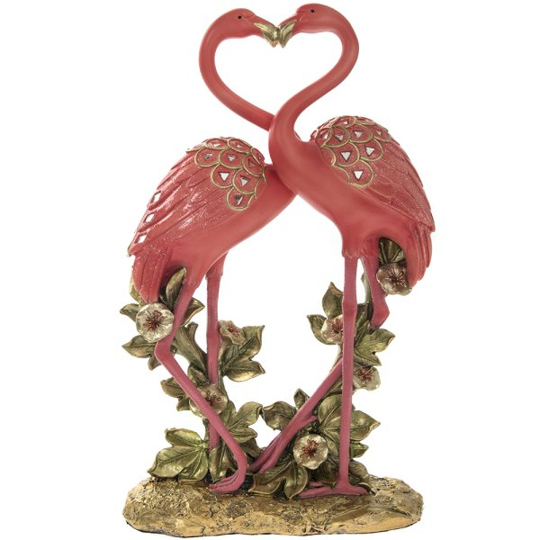 EXOTIC ART FLAMINGOS 12.5""