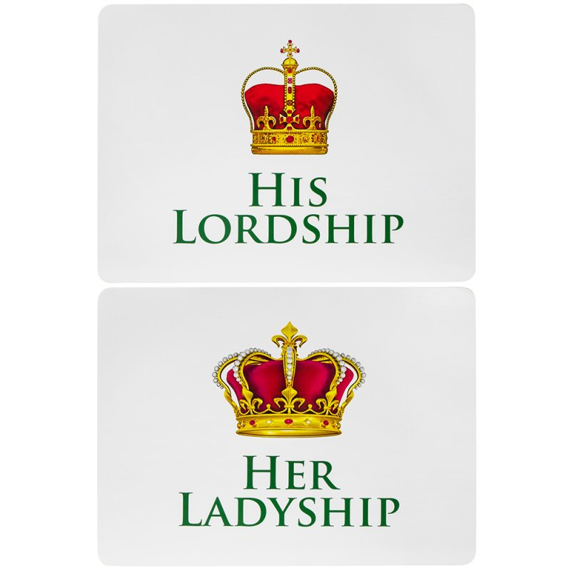 LORD & LADYSHIP PLACEMATS 2SET
