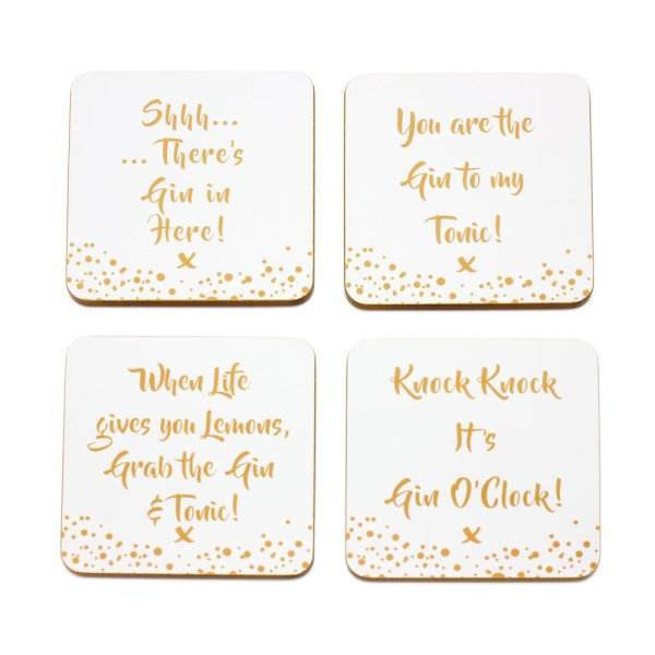 GIN COASTERS SET OF 4