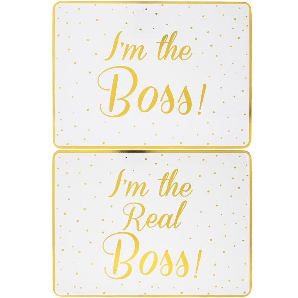 BOSS&REALBOSS PLACEMATS SET 2