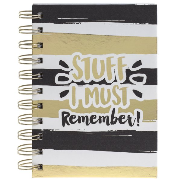 MUST REMEMBER GOLD NOTEBOOK
