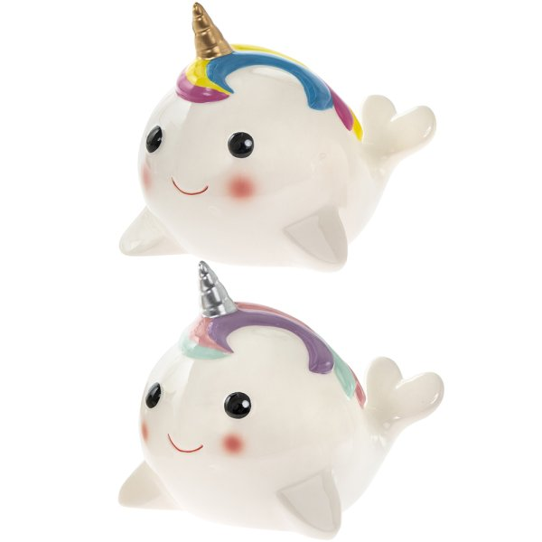 NARWHAL WHALE MONEYBANK 2ASS