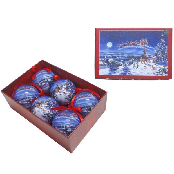 MAGIC OF XMAS BAUBLES SET OF 6