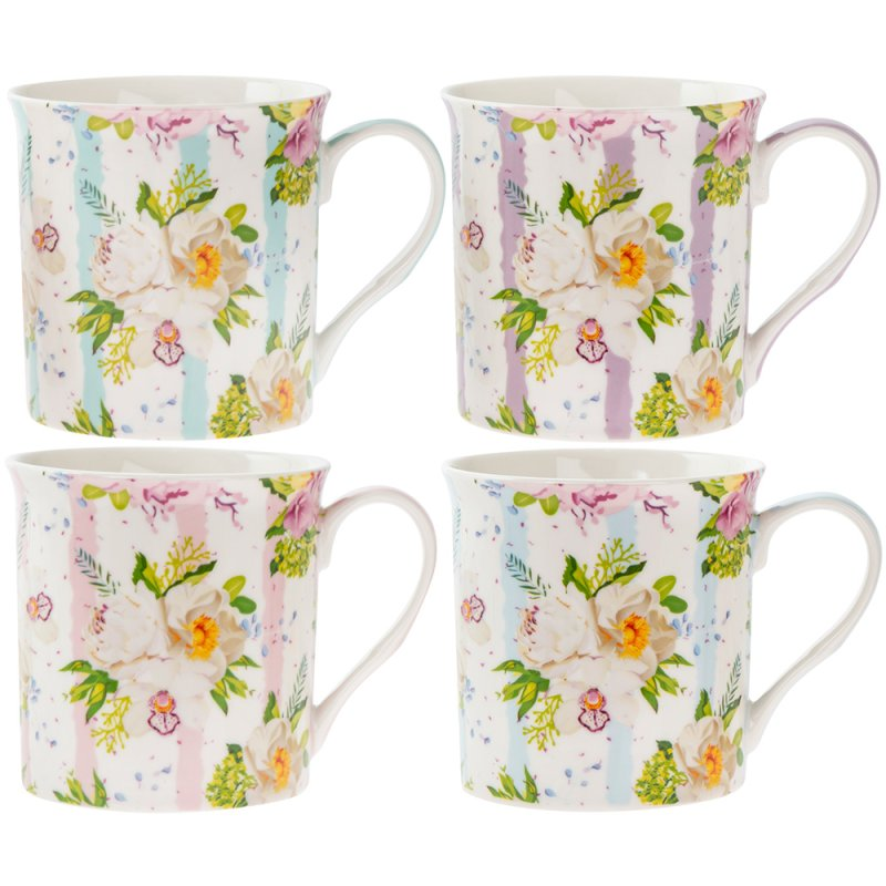 FLOWER MUGS 4 SET
