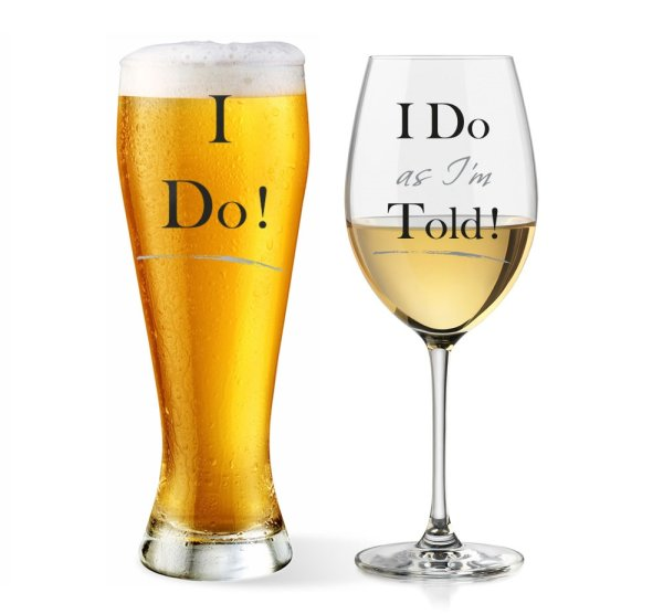 I DO AS I'M TOLD GLASSES SET