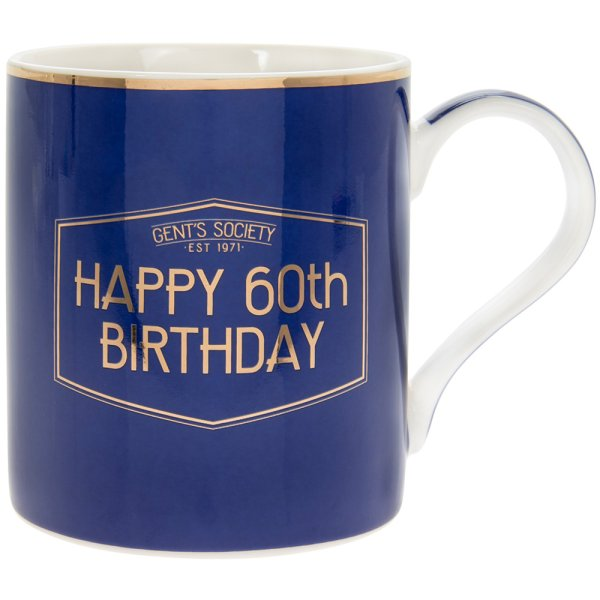 GENT'S SOCIETY HAPPY 60TH MUG