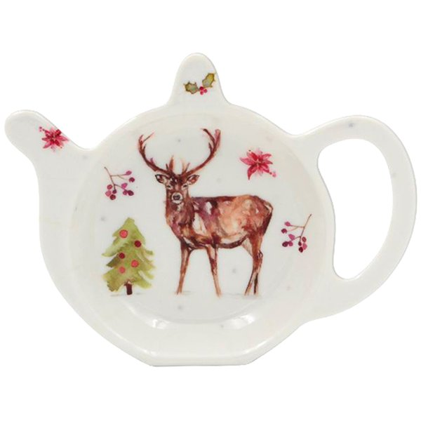 WINTER STAGS TEABAG TIDY