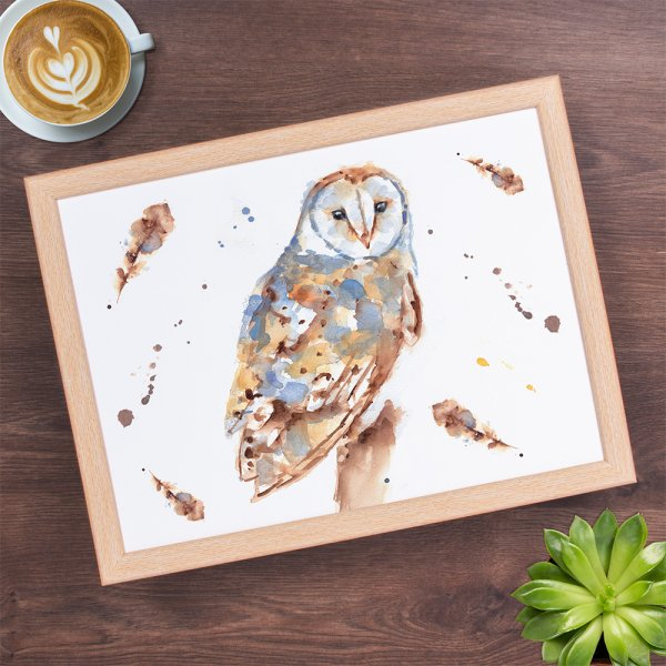 COUNTRY LIFE OWL LAPTRAY