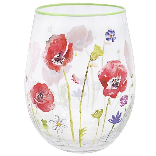 POPPY FIELD STEMLESS GLASS