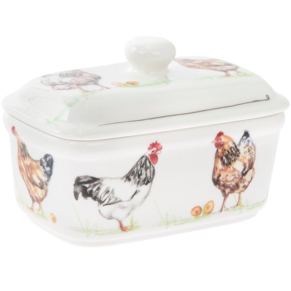 CHICKENS BUTTER DISH