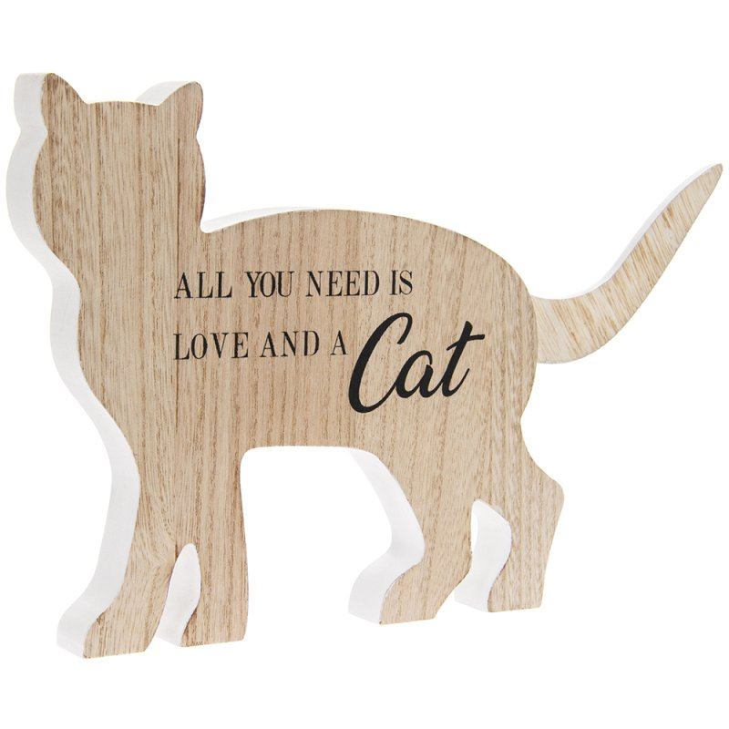 ALL YOU NEED IS LOVE & CAT PLQ