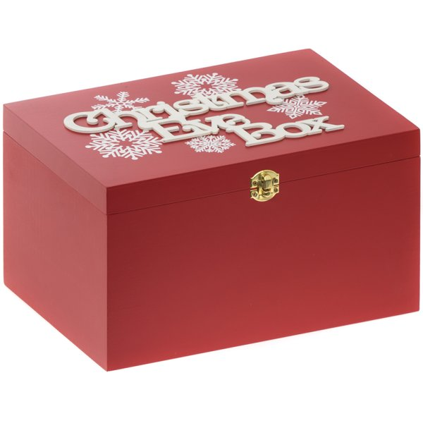 XMAS EVE BOX RED SNOWFLAKE