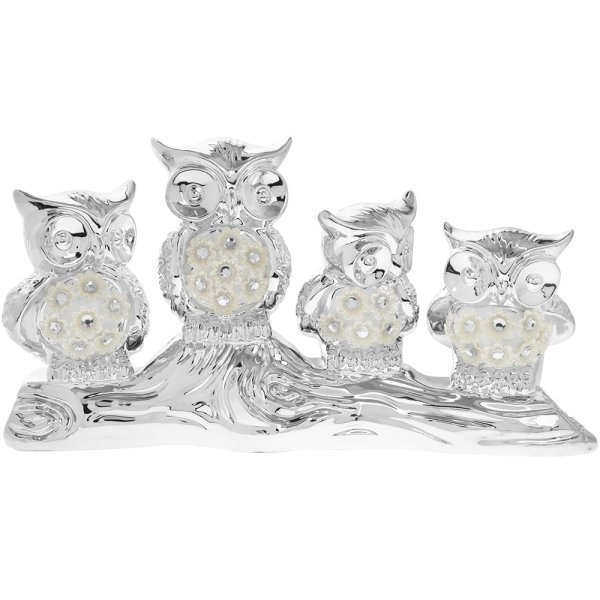 SILVER MILLE OWL FAMILY LG