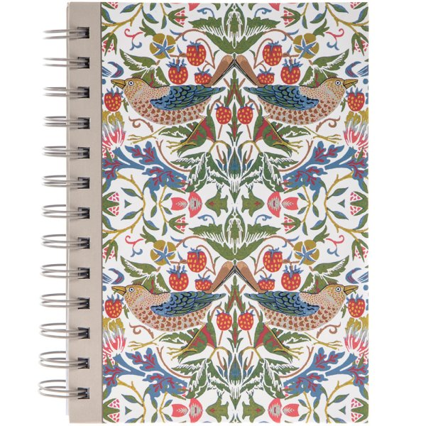 WHT STRAWBERRY THIEF NOTEBOOK