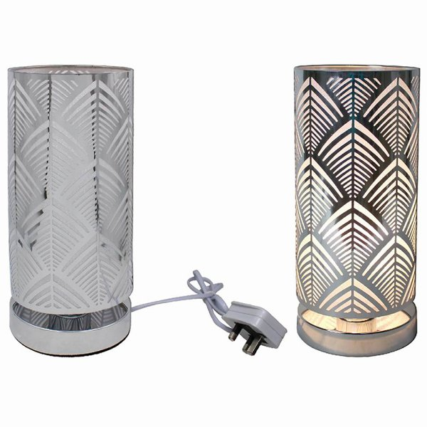 SILVER TOUCH LAMP DECO