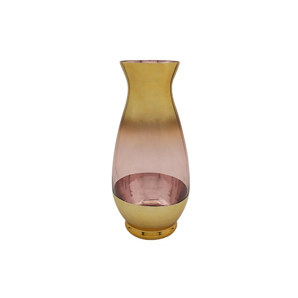 PINK & GOLD METALLIC VASE