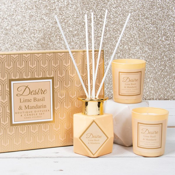 DIFFUSER&CANDLE SET 100ML CRM