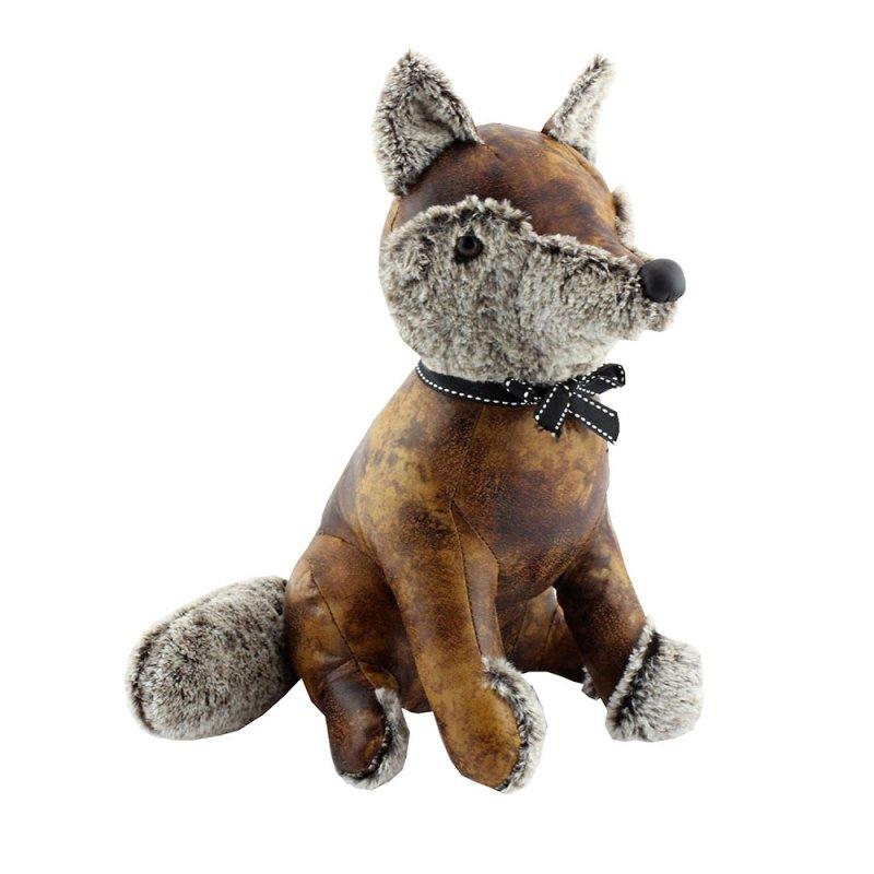 FAUX LEATHER FOX DOORSTOP