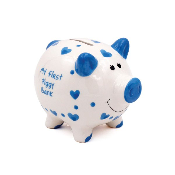 MY FIRST PIGGY BANK BLUE