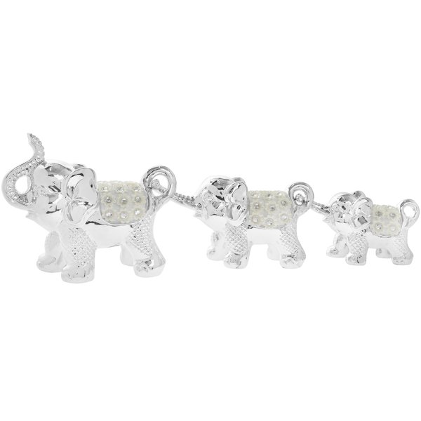 SILVER MILLE ELEPHANT  3 SET