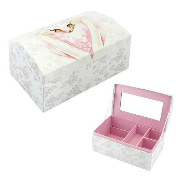 LOVING SWANS JEWELLERY BOX