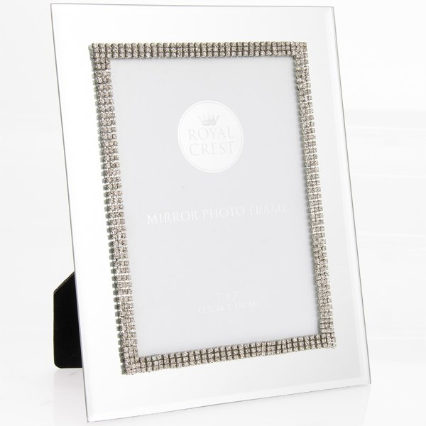 "MIRROR DIAMANTE FRAME 5""X7"""