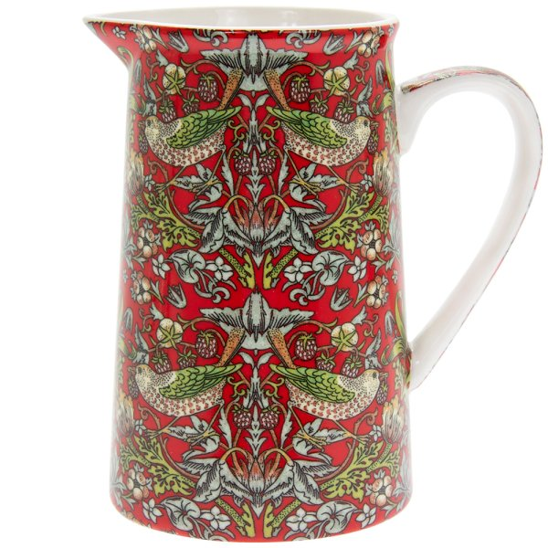 RED STRAWBERRYTHIEF JUG MED