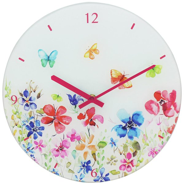BUTTERFLY MEADOW CLOCK